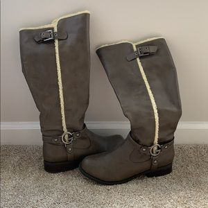GUESS Taupe & Faux Fur Boots
